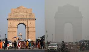 New Delhi skies clear during pandemic