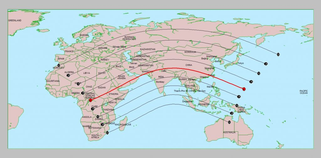 Solar Eclipse Path on June 21, 2020