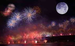 Fireworks and a Full Moon