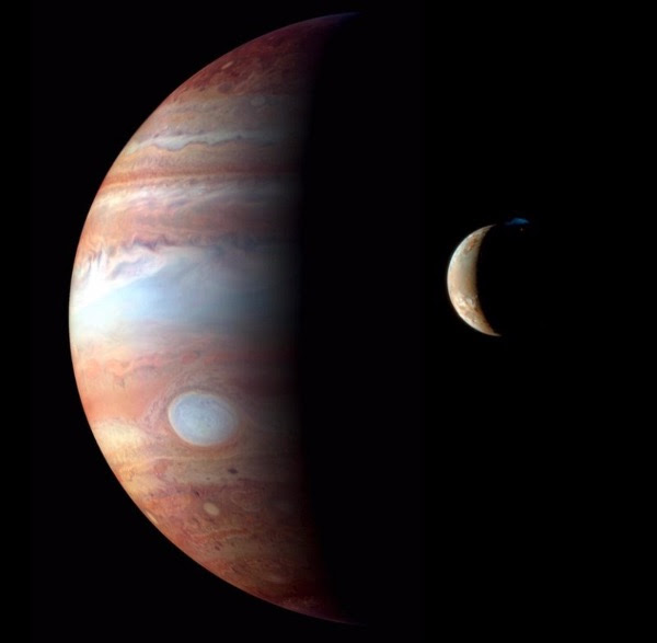 Jupiter with its Moon Io