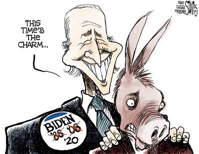 Joe Biden cartoon character