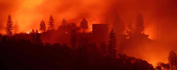 global fires destroy homes in western USA